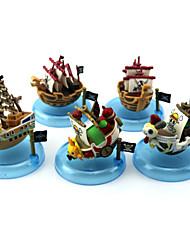5PCS One Piece 5CM Pirate Ship Baval Ship PVC Anime Action Figures Doll Toys