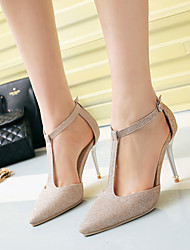 Women's / Girl's Wedding Shoes Heels / T-Strap / Pointed Toe Heels Wedding / Party & Evening / Purple / Silver / Gold
