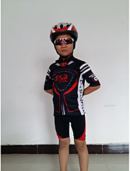 GETMOVING Cycling Jersey with Shorts Kid's Unisex Short Sleeves Bike Sleeves Jersey Shorts Clothing Suits Anatomic Design Breathable Back