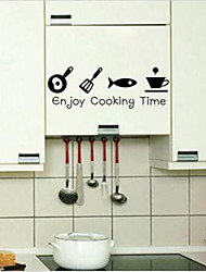 Enjoy Cooking Time Wall Sticker Kitchen Decor Vinyl Wall Quote Home Art Sticker