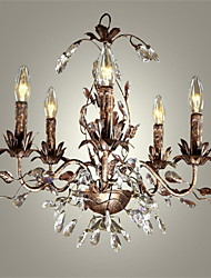 40-60W Flush Mount ,  Vintage Others Feature for Crystal / Mini Style / Candle Style Metal Bedroom