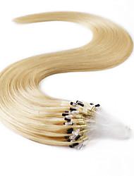 neitsi® 20inch micro anneau boucles extensions de cheveux humains sonne cheveu humain 22 #