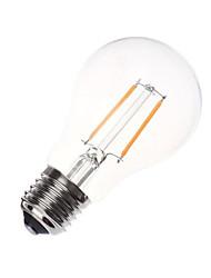 A60 2w e27 200lm lampe à incandescence led à incandescence à incandescence couleur blanche et chaude de 360 degrés (ac220v)