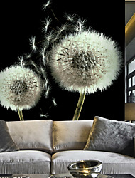 JAMMORY Art Deco Wallpaper Contemporary Wall Covering,Other Large Mural Wallpaper Black and White Dandelion