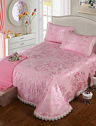 Yuxin®Ice jacquard paragraph washable lace bed skirt summer sleeping mat suite air-conditioned seats  Beding Set