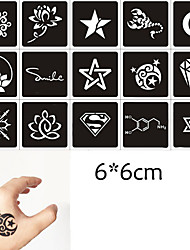 10 Stencils Temporary Tattoo kit Body Art Herbal Mehndi Ink