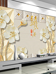 JAMMORY Art Deco Wallpaper Contemporary Wall Covering,Other Wallpaper Flowers Large Mural Reliefs