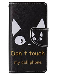 Black Cat Painted PU Phone Case for Sony Xperia Z5 Compact/Z5