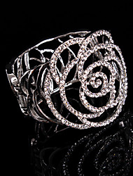 Bracelet Manchette Alliage Strass Femme