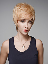 Chic Fashionable Short Straight Remy Human Hair Hand Tied -Top Emmor Wigs for Woman
