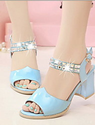 Fashion Women's Shoes Leatherette Chunky Heel Heels Sandals Office & Career / Dress / Casual