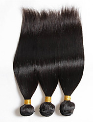 "3pcs/Lot 8""-30"" Mix Size Color #1B Peruvian Straight Virgin Human Hair Extensions Bundles Thick & Soft"