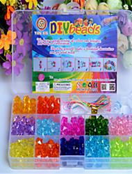 grânulos de artesanato / contas DIY caixa de educacional contas das crianças brinquedos de presente espalhadas à mão