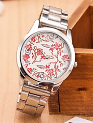 L.WEST Ladies' Flower Steel Belt Quartz Watch Cool Watches Unique Watches