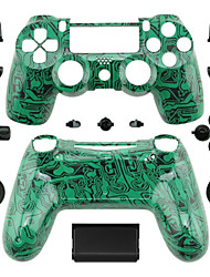 Replacement Controller Case for PS4 Controller (Green Circuit Board)