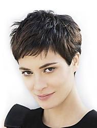 Full Lace Rihanna Chic Cut Short Wigs Hairstyle #1b Brazilian Virgin Hair Capless Human Hair Wigs