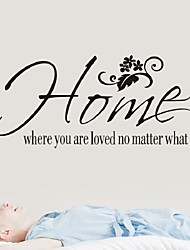 Home Where You Are Love No Matter What Wall Quote Sticker Art Decals Diy Decor