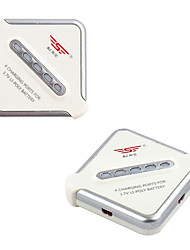 SJR/C C1001 4 Charging Ports For 3.7V LI-POLY Battery+Four Line Interface Converter