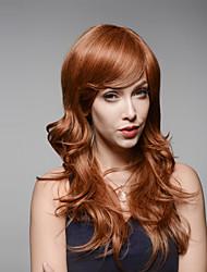 elegante sin tapa larga de pelo muy claro remy ondulado pelo mano humana ligada repetición la máquina Hamor peluca real natural