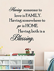 Having Someone To Love is Family Quote Wall Sticker Bessing Home Wall Decals