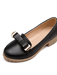 Women's Shoes Flat Heel Round Toe / Closed Toe Flats Outdoor / Dress / Casual Black / Pink / White / Beige