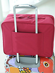 Travel Packing Organizer / Inflated Mat Travel Storage Fabric Green / Pink