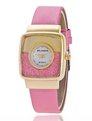 Mulheres Relógio de Moda Quartz PU Banda Brilhante Preta / Marrom / Rosa / Ivory marca-