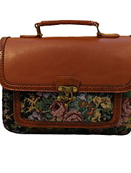 GG Retro Embroidered Shoulder Bag Portable Handbag Tote Satchel