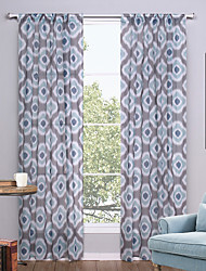 One Panel Modern Geometic Multi-color Living Room Polyester Sheer Curtains Shades 52 inch Per Panel