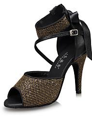 Customizable Women's Latin Ballroom Dance Shoes Jazz / Swing Shoes / Salsa Samba  Customized Heel Black