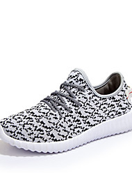 Running Women's/Men's/Lovers' Canvas Platform Platform / Creepers / Comfort Athletic Shoes Outdoor / Athletic / Casual Black