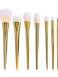 7pcs Set BlingBling Metallic Color Makeup Brushes Powder brush Blush Brush Eyeshadow Eyeliner Lip Brush Set