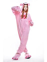Kigurumi Pyjamas New Cosplay® / Ours / Raton laveur Collant/Combinaison Halloween Pyjamas animale Incarnadin Mosaïque Polaire Kigurumi