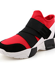 Women's Sneaker Shoes Fabric Black / Red