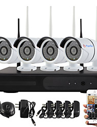 yanse® plug and play NVR wireless kit p2p 960p HD sistema CCTV di WIFI outdoor / indoor ir notte di sicurezza visione ip camera