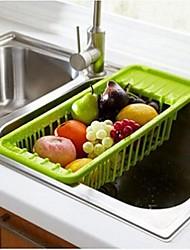 évier fruits de vidange et de stockage des légumes en rack / étagères vaisselle, plastique, couleur assortie