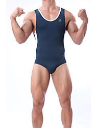 Bottoms Swimwear(Branco / Azul / Verde Escuro / Laranja) -Homens-Respirável / Redutor de Suor / wicking / Compressão / Materiais Leves