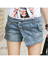 Woman's Jeans Denim Shorts  Forms Culottes  Pants The Picture Color A369