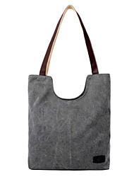 Women Canvas Shopper Shoulder Bag / Tote / Satchel - Beige / Blue / Gray / Black /  coffee