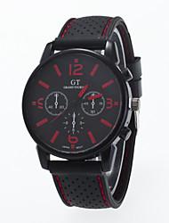2016 New Arrival Fashionable Sport Leisure Men Wristwatch Silicone Strap Wristwatch Man Wrist Watch Cool Watch Unique Watch