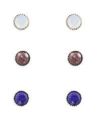 Earring Stud Earrings Jewelry Women Wedding / Party / Daily / Casual / Sports Alloy / Resin 1set Silver
