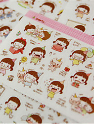 1PC DIY Cute Cartoon Kawaii Stickers Lovely Momo Girl Sticker For Diary Scrapbooking Cellphone Decoration(Style random)