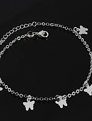 Women's Fashion Platinum Plated The Butterfly Anklets