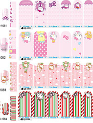 1PC Cute Cat In The Second Quarter All Posted 14 To Stick Nails Stickers