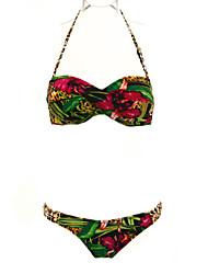 Frauen Sexy Falten Sie die Floral Bikini