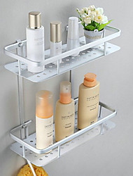 Bathroom Shelf Anodizing Wall Mounted 33*23*18cm Aluminum Contemporary