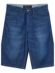 Meters/bonwe Men's Shorts / Jeans Pants Dark Blue-255158