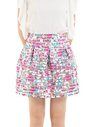 Women's Floral Pink Skirts,Cute Above Knee