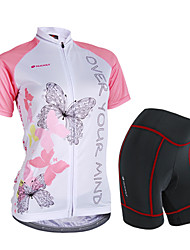 NUCKILY® Cycling Jersey with Shorts Women's Short Sleeve BikeWaterproof / Breathable / Rain-Proof / Anti-Eradiation / 3D Pad / Reflective