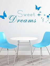 Worte & Zitate / Romantik / Mode / Abstrakt / Fantasie Wand-Sticker Flugzeug-Wand Sticker,PVC M:40*115cm/ L:50*150cm